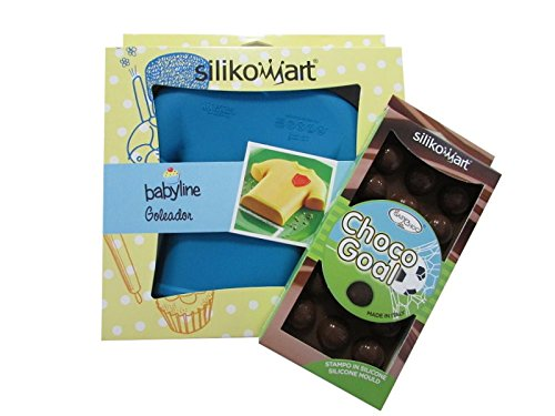MaxxGoods Silikomart Trikot Backform & Silikomart Pralinenform Fussball Choco Goal