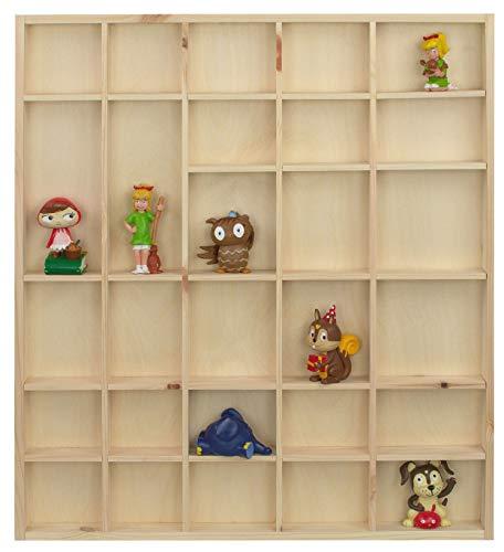 LAUBLUST Setzkasten für Tonie Figuren - Tonie Regal für ca. 48 Hörfiguren | ca. 45 x 40 x 4 cm, Natur, Holz FSC®