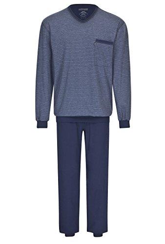 Herren Schlafanzug lang Blau 106