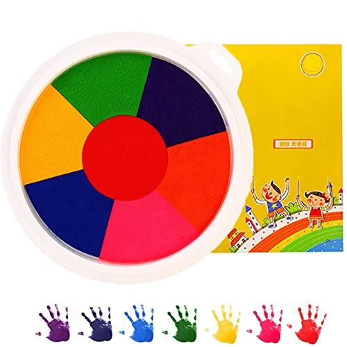 Pintar con los Dedos, Kit Colorido Divertido para Pintar con Los Dedos, Juguetes para Dibujar con Los Dedos, Kit De Herramientas Educativas para Pintar con Los Dedos 7-Colors