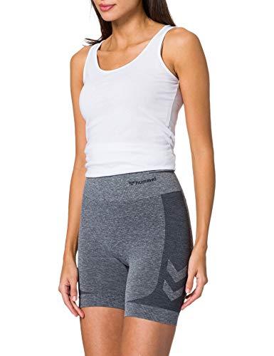 hummel Womens Rosa Seamless Shorts, Blue Nights Melange, M