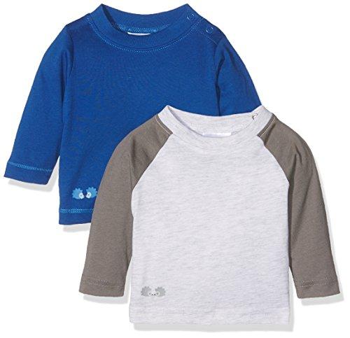 Twins Baby-Jungen Langarmshirt, 2er Pack, Mehrfarbig (Mehrfarbig 3200), 56