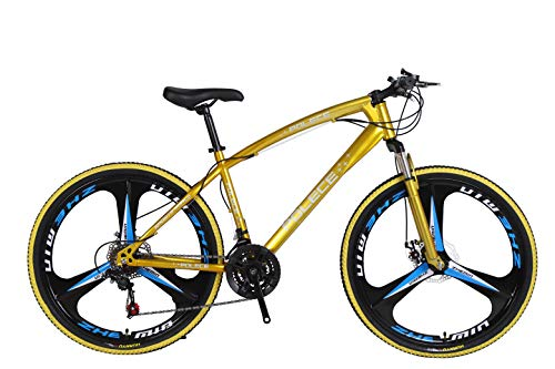 Long & Bright Yellow New Python Shaped Mountain Bike 26 inch one Wheel Double disc Brake Gift car Export car