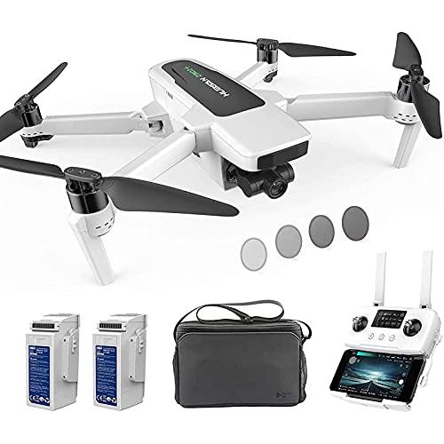 LYHY Drone con Fotocamera UHD 4K-60fps GPS RC Drone 10KM FPV con Giunto cardanico a 3 Assi Staccabile, 39 Minuti di Volo in modalità Headless, modalità failsafe a Bassa Potenza
