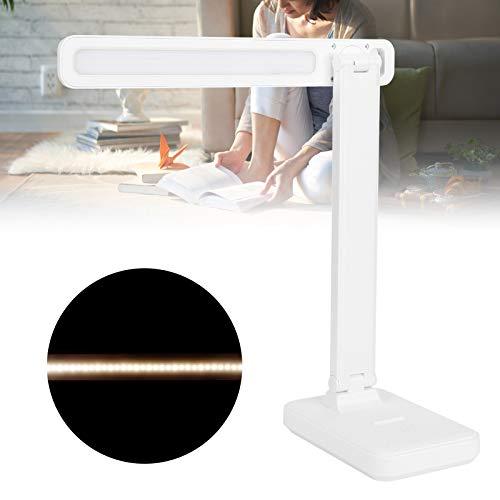 Eulbevoli Lámpara de Escritorio LED de protección Ocular con luz antiazul, diseño Moderno Lámpara de Escritorio LED Blanca de Espectro Completo Ajustada sin escalonamientos para la Oficina en casa