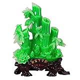 CXJJ Decoración de Escritorio Bambú de la Suerte Figurines Inicio Accesorios Sede de la Empresa Decoración Feng Shui de la Mascota del Adorno de bambú Adornos de Escritorio