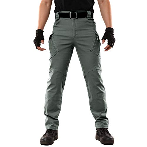 ReFire Gear Męskie spodnie taktyczne bojówki bawełniane na zewnątrz wojskowe bojowe spodnie robocze Zielony wojskowy 30
