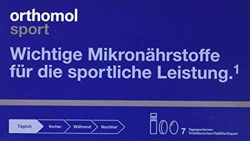 Orthomol Sport Trinkfläschchen, 7 Trinkampullen - Zellschutz, Vitamine & Mineralstoffe in Ampullen mit Tabletten & Kapseln - Nahrungsergänzungsmittel