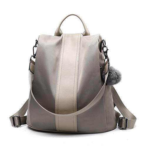 Angle-w diseño Elegante, Viajes Sencillos, Tono Cuero antithief Mujer Mochila Capacidad turgida Bolsa de Pelota para niñas Bolsas de Viaje Masculinas Vamos mas lejos