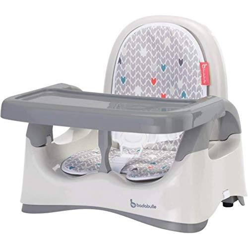 Badabulle Folding Height-Adjustable Baby Comfort Booster Seat, Grey