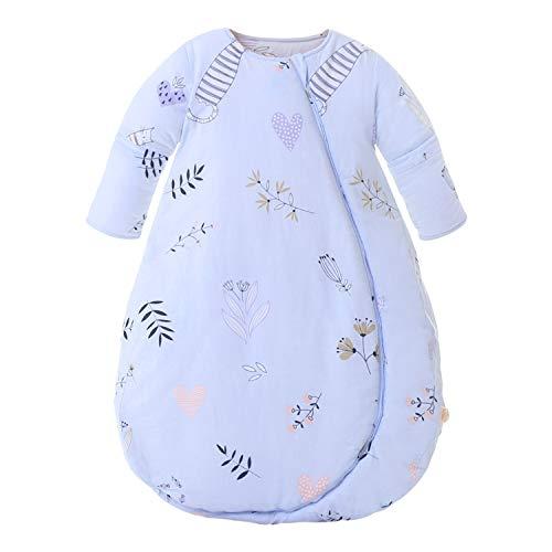 Baby Winter schlafsack Kinder schlafsack 3.5 Tog Schlafsaecke aus Bio Baumwolle Verschiedene Groessen von Geburt bis 3 Jahre alt(M/Koerpergroesse 70-80cm)