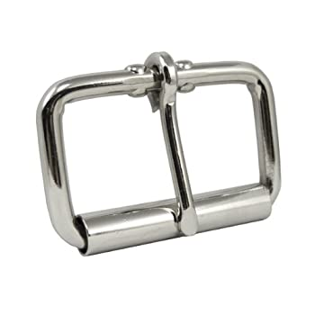 Springfield Leather Company Nickel Plate 2  Roller Buckle  Single