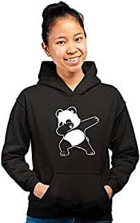 PrintBharat for Women Dab Panda Design Printed 100% Cotton Hoodie | Sweatshirts
