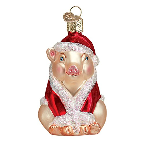 Old World Christmas Pigs Glass Blown Ornaments Tree Christmas Ham
