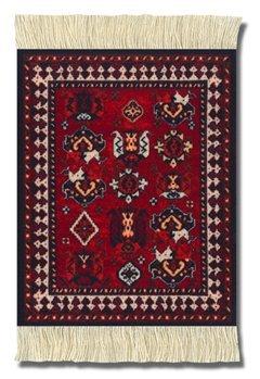 CoasterRug MET-C Asian Collection - mat voor beker, Perzisch tapijt ontwerp, pak van 4