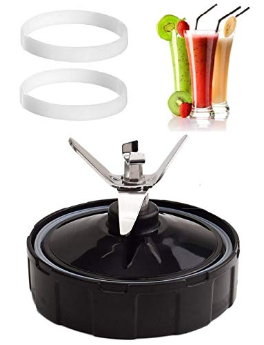 TopSpareParts 7 Fins Replacement Nutri Ninja Extractor Cross Blade  900W, 1000W & Auto-iQ Blender  2 FREE Gaskets (RRP £4.95)  Blender Juicer Spare Part Bottom Accessory