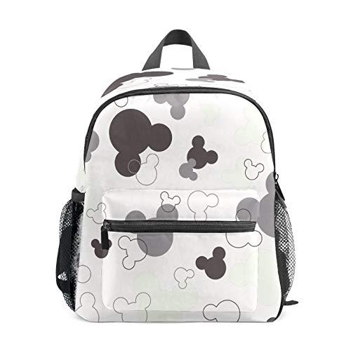 Mochila infantil para niños de 1 a 6 años de edad, bolsa de escuela para niños y niñas, bolsa de hombro ligera, mochila perfecta para niños pequeños a jardín de infancia, gris y blanco Mickey Mouse