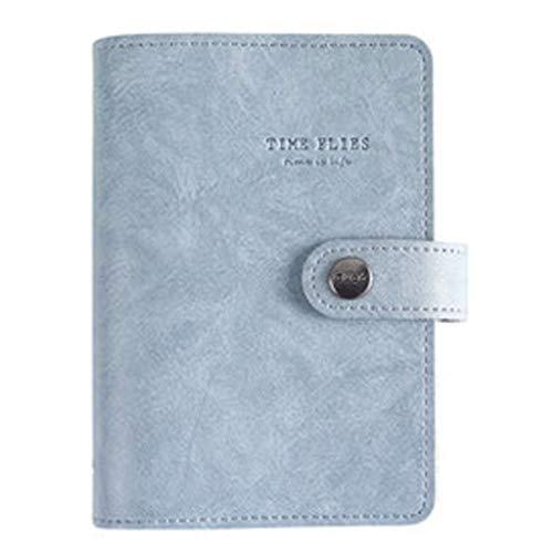 Diario retro A7 Diario multifunción cuaderno de notas, cuenta creativa de mano, cuaderno de bolsillo (color: azul)