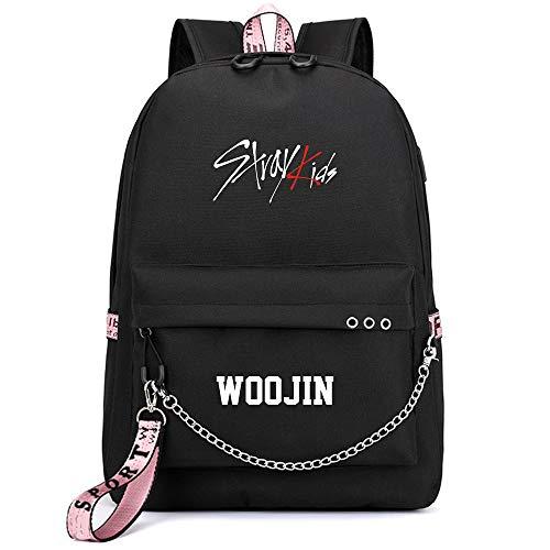 NCTCITY Kpop Stray Kids Rucksack Student Daypack Schultasche Geschenkwaren Laptoptasche College School Bookbag Reise Schule Canvas Bags Bang Chan Changbin Hyunjin Han Felix Seungmin