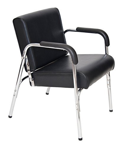 BR Beauty Kate Auto Reclining Shampoo Chair for Salons with Auto-Recline Seat Back, Heavy Duty Chrome Arms, Extra Thick Seat, 32 Inches High, 23.5 Inches Wide, 24 Inches Deep, SY-92272