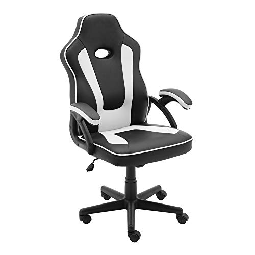 Play Haha. Silla de juegos de estilo de carreras, giratoria, silla de oficina, silla ergonómica para conferencias, silla de trabajo con soporte lumbar de piel sintética con silla de trabajo ajustable