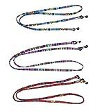 3 Piezas Cuerda Gafas de Sol Ajustables Correa para Gafas para Mujer para Gafas Deportivas Cadena Gafas Gafas Cordón Cuerda