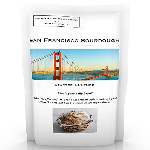 Sourdough Starter Genuine San Francisco Culture with Easy Foolproof Recipe the True Original Organic San Francisco Sourdough Starter with the Best Recipe on the Internet