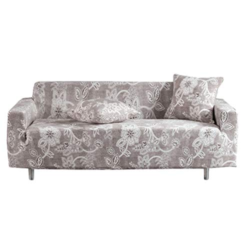 GladiolusA Sofa Überwürfe Sofabezug Stretch Couchbezug Elastischer Antirutsch Sofahusse Stil18 2 Sitzer/145-185cm+1Kissenbezug