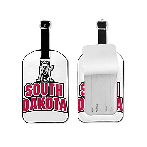 South Dakota Etiquetas de equipaje de cuero personalizado maleta Tag Set equipaje ID etiquetas etiquetas de viaje accesorios