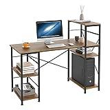 HOMECHO Mesa de Ordenador con 5 Estantes para Almacenaje Escritorio de PC con...