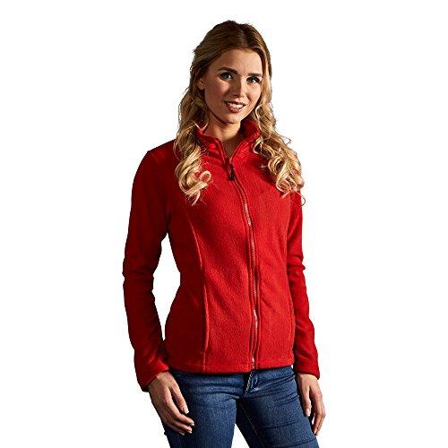 Promodoro Leichte Fleece Jacke C+ Damen, S, Rot