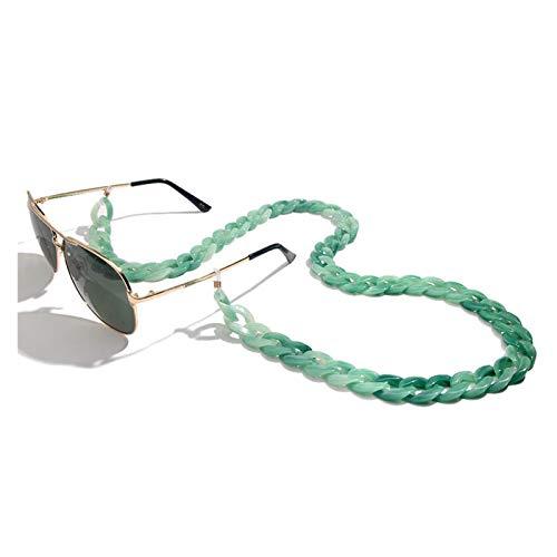 DZJUKD Práctico Cadena de Gafas de Sol acrílico Mujeres de Lectura de Gafas Colgantes Cadena de Cuello enrojeción de la Cadena de Gafas de Cadena Correa Correa para Mujeres Mayores (Color : F)