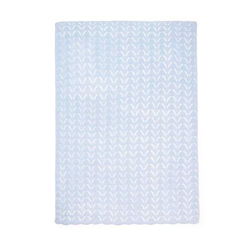 Montse Interiors, S.L. Manta de Bebé Tricot de Punto (75x100, Tricot Azul)