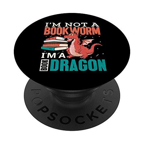 Book reader librarian book lover teacher PopSockets PopGrip: Agarre intercambiable para Teléfonos y Tabletas