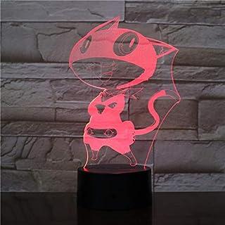 Lampara LED Morgana Persona 5 Cambia Color USB Luz Nocturna