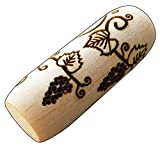 SOCWELL LLC Pattern Roller for Clay, Grape Vines, 2 inch(50mm) x 3/4' Diameter Size, Made in USA of fine Maple...