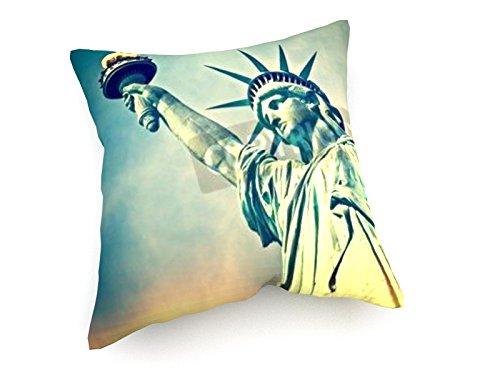 weewado Statue de la Liberté, New York City - 40x40 cm - Canapé Coussins - Art, Image, Peinture, Photo - Villes Et Voyage