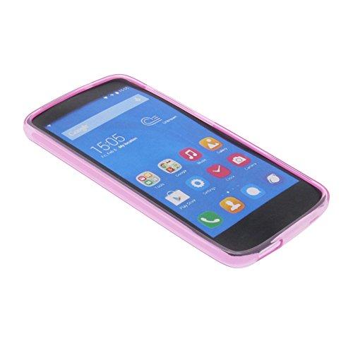 foto-kontor Tasche für Huawei Honor Holly Gummi TPU Schutz Hülle Handytasche pink - 4