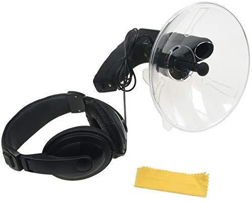 Parabol-Richtmikrofon mit Kopfhörer Aufnahmefunktion Ø 26cm I max. 90m Reichweite