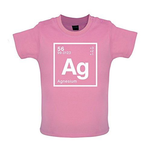 Agnes - Periodic Element - Baby/Toddler T-Shirt - Bubble Gum Pink - 18-24 Months