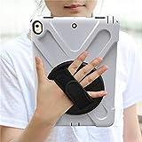 HHF Pad Accesorios para iPad Pro 9.7, New 360 Armor Kids Cover 360 Rotation Hand Strap Silicon Cover PVC para iPad Pro 9.7 A1673 A1674 (Color : Blanco)