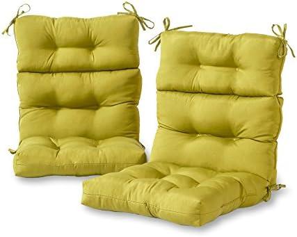 Greendale Home Fashions AZ6809S2 KIWI Lime Outdoor High Back Chair Cushion Set of 2 product image