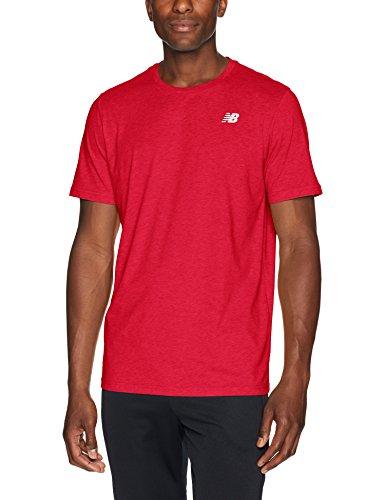 New Balance Camiseta Heather Tech para Hombre (Paquete de 1), Hombre, Camiseta, MT73080REPL, Equipo Rojo, L