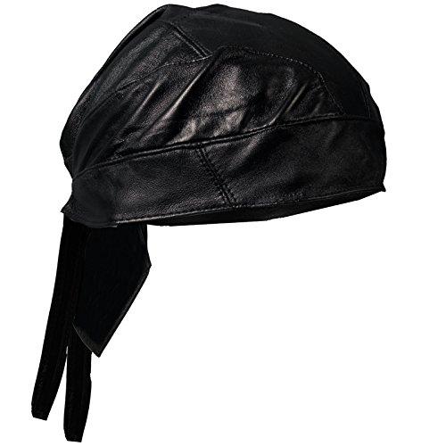Hot Leathers - HWL1002 Medium Weight Leather Head Wrap (Black)