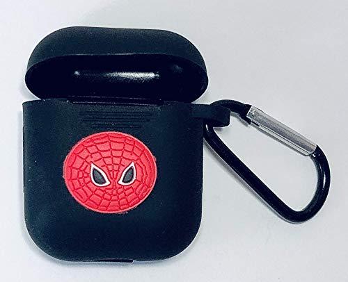 PFEISCO. Trade beschermhoes compatibel met Apple Airpods Case Superhelden Design Cartoon Bluetooth koptelefoon ontwerp vergelijkbaar met Marvel Ironman Batman Spiderman, 4,5 x 5,5 x 2,4 cm, 12