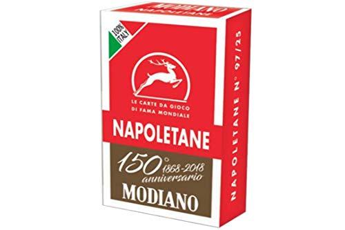 Modiano- Carte Napoletane dei 150 Anni, Colore Rosse, 300080