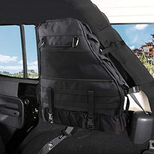 Zarome Überrollbügel Aufbewahrungstasche für Jeep Wrangler 4 Türen Auto Aufbewahrung Paket mit mehrschichtigem Beutel und Werkzeuglöchern Hochleistungsrucksack für Camping und Wandern Greater