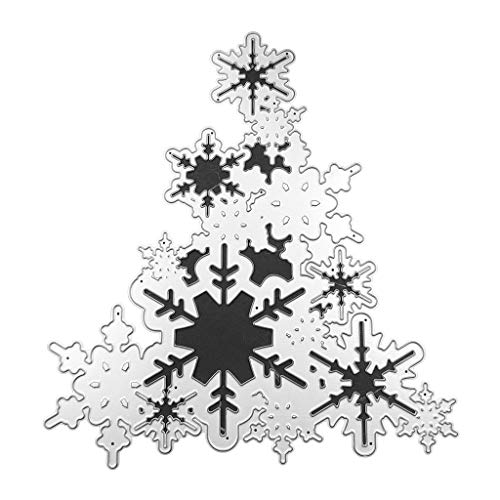 Koehope Stansvormen, sneeuw, kerstboom, metalen sjablonen voor het maken van kaarten, scrapbooking, koolstofstaal, bruiloft stempelsjabloon DIY craft decor cadeau