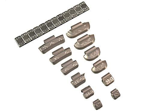 370piezas Surtido–Contrapesas Impacto/adhesivas de zinc/hierro 5G–30G para llantas de aluminio y acero