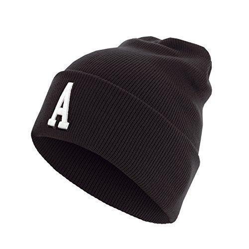 Master Dis C3 Lettre Cuff Knit Bonnet ABC Lettres bonnet - A, Taille unique